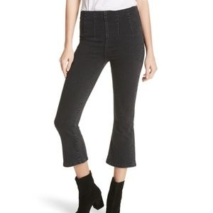 Free People ultra high rise pull on crop